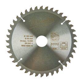 Пильный диск по дереву Milwaukee CircS WMS 190 x 30 x 2.8 40T для торцовочной пилы - 4932459544, фото