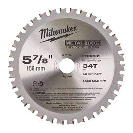 Пильный диск по металлу Milwaukee F 150 x 20 x 1.6 34T для циркулярной пилы - 48404080, фото