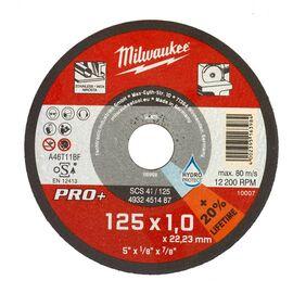 Тонкий отрезной диск по металлу Milwaukee PRO-PLUS SCS-41 125x1 MM 50 PCS - 4932451487, фото