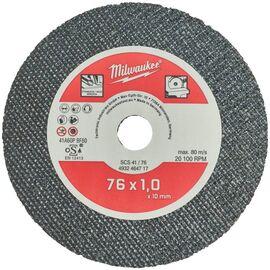 Тонкий отрезной диск по металлу Milwaukee SCS-41 76x1 MM 5 PCS - 4932464717, фото
