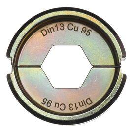 Сменная матрица для опрессовки медных кабельных наконечников и коннекторов Milwaukee DIN13 CU 95 - 4932459470, фото