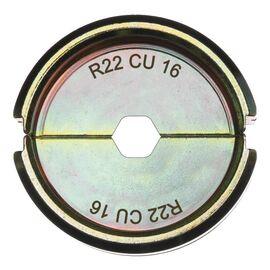 Сменная матрица для опрессовки медных кабельных наконечников и коннекторов Milwaukee R22 CU 16 - 4932451755, фото