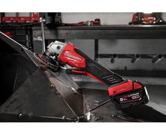 Аккумуляторная углошлифовальная машина Milwaukee M18 ONEFSAG125XPDB-502X - 4933478435, Вариант модели: M18 ONEFSAG125XPDB-502X, фото , изображение 10