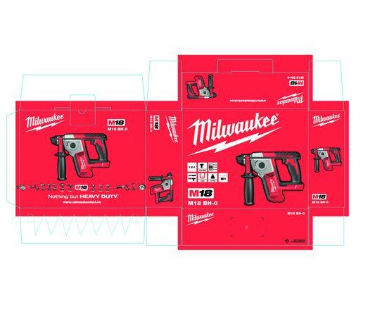 Аккумуляторный перфоратор Milwaukee M18 BH-0X - 4933459542, Вариант модели: M18 BH-0X, фото , изображение 3