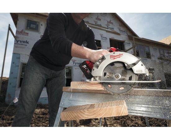 Аккумуляторная циркулярная пила по дереву и пластику Milwaukee M18 BLCS66-502X - 4933464591, фото , изображение 7