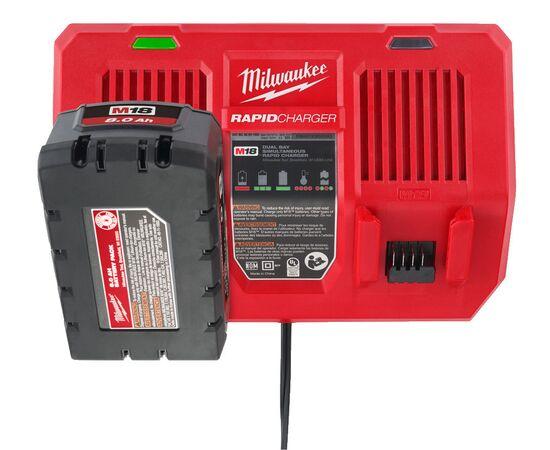 Быстрое зарядное устройство на два порта Milwaukee M18 DFC - 4932472073, фото , изображение 11