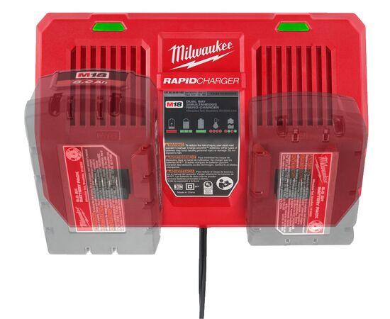 Быстрое зарядное устройство на два порта Milwaukee M18 DFC - 4932472073, фото , изображение 13