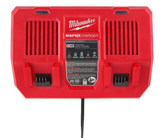 Быстрое зарядное устройство на два порта Milwaukee M18 DFC - 4932472073, фото , изображение 14