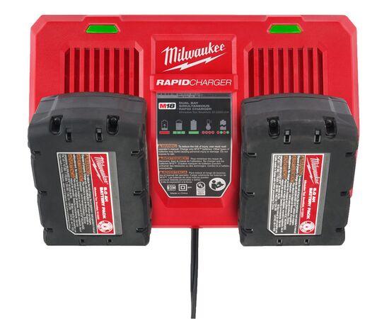 Быстрое зарядное устройство на два порта Milwaukee M18 DFC - 4932472073, фото , изображение 8