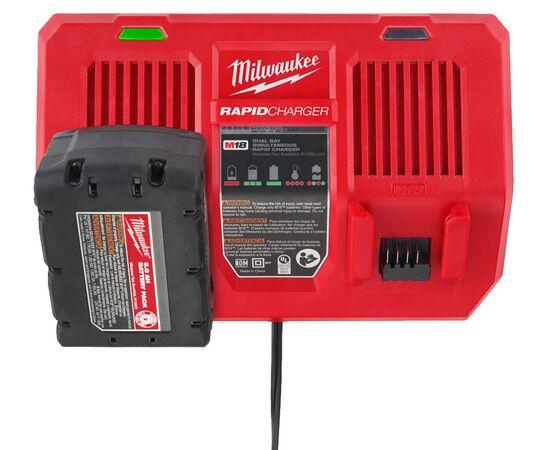 Быстрое зарядное устройство на два порта Milwaukee M18 DFC - 4932472073, фото , изображение 10