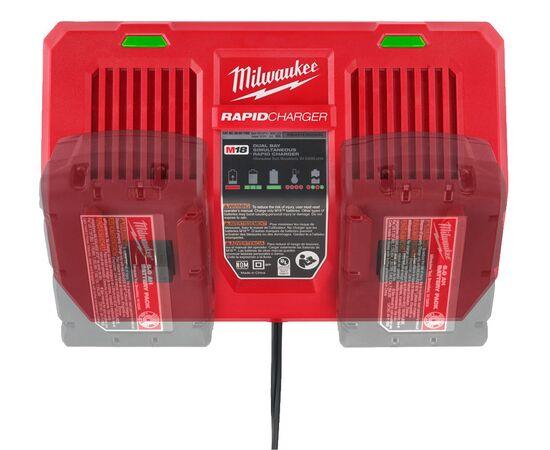 Быстрое зарядное устройство на два порта Milwaukee M18 DFC - 4932472074, фото , изображение 12