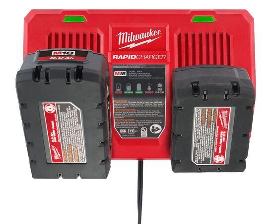 Быстрое зарядное устройство на два порта Milwaukee M18 DFC - 4932472074, фото , изображение 9