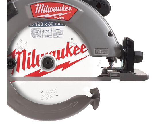 Аккумуляторная циркулярная пила по дереву и пластику Milwaukee M18 FCSG66-0 - 4933472163, Вариант модели: M18 FCSG66-0, фото , изображение 3
