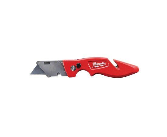 Многофункциональный складной нож со сменными лезвиями Milwaukee FASTBACK™ FLIP UTILITY KNIFE с отсеком для хранения лезвий - 48229901, фото