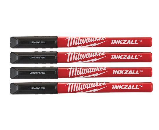 Маркер со сверхтонким пером Milwaukee INKZALL™ FINE TIP 4 шт - 48223164, фото