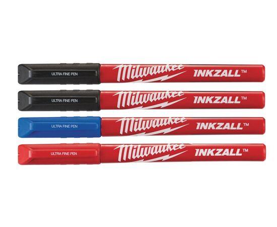 Маркер со сверхтонким пером Milwaukee INKZALL™ FINE TIP 4 шт - 48223165, фото