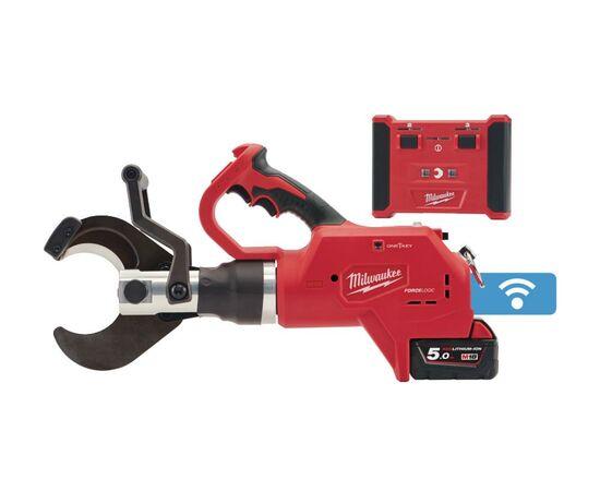 Аккумуляторный гидравлический кабелерез с дистанционным управлением для подземных кабелей Milwaukee M18 ONE-KEY™ FORCE LOGIC™ HCC75R-502C - 4933459272, фото