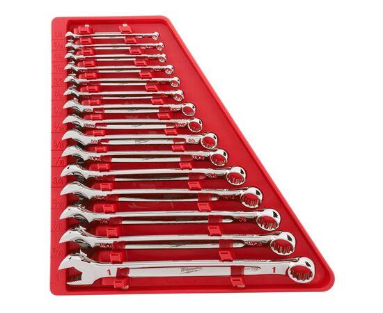 Набор комбинированных дюймовых ключей Milwaukee MAX BITE™ IMPERIAL COMBINATION SPANNER SET 15 шт - 48229415, фото