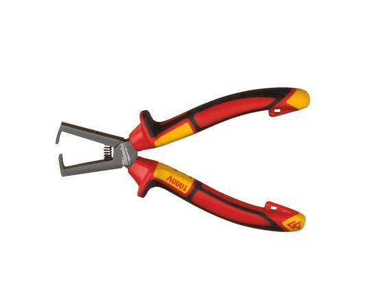 Инструмент для зачистки проводов Milwaukee VDE WIRE STRIPPING PLIER 160MM - 4932464573, фото