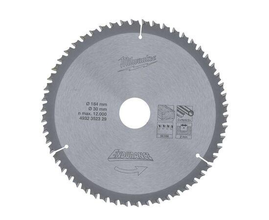 Купить Пильный диск по дереву Milwaukee WNF 184 x 30 x 2.0 54T для циркулярной пилы - 4932352329, 1 на официальном сайте Milwaukee redtool.by (milwaukeetool.by)