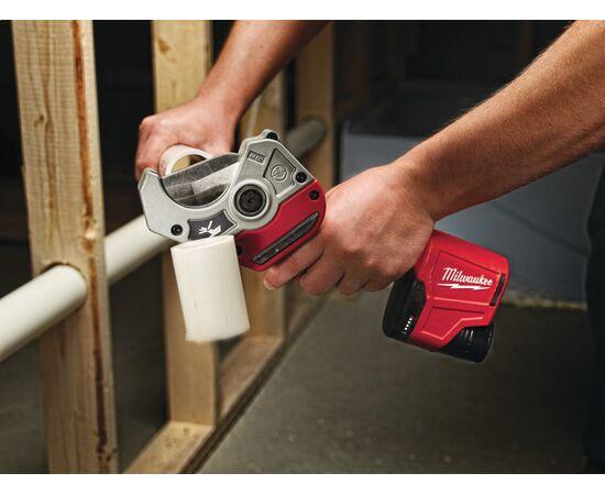 Аккумуляторный труборез для пластиковых труб Milwaukee C12 PPC-0 - 4933416550, Вариант модели: C12 PPC-0, фото , изображение 2