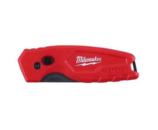 Компактный складной многофункциональный нож Milwaukee FASTBACK™ COMPACT FLIP UTILITY KNIFE - 4932471356, фото , изображение 3