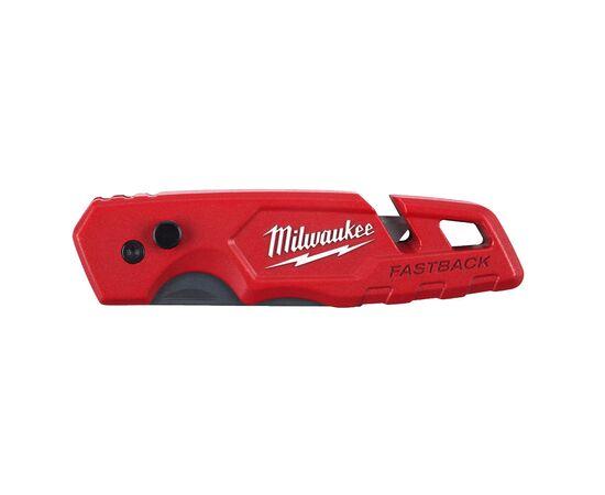 Многофункциональный складной нож со сменными лезвиями Milwaukee FASTBACK™ FLIP UTILITY KNIFE - 4932471357, фото , изображение 3