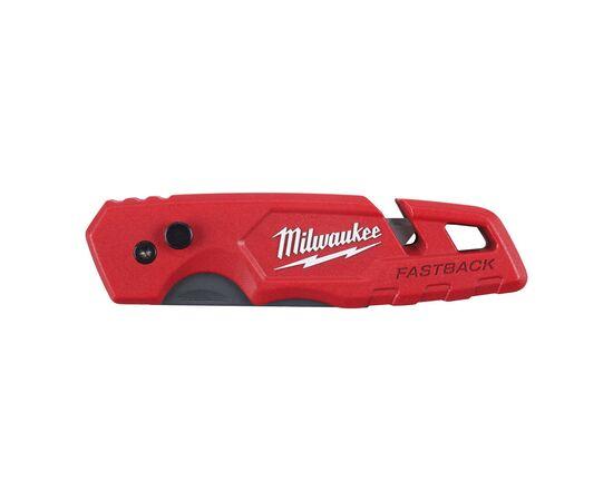 Многофункциональный складной нож со сменными лезвиями Milwaukee FASTBACK™ FLIP UTILITY KNIFE WITH BLADE STORAGE с отсеком для хранения лезвий - 4932471358, фото , изображение 3