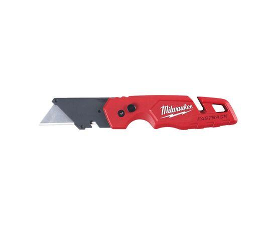 Многофункциональный складной нож со сменными лезвиями Milwaukee FASTBACK™ FLIP UTILITY KNIFE WITH BLADE STORAGE с отсеком для хранения лезвий - 4932471358, фото