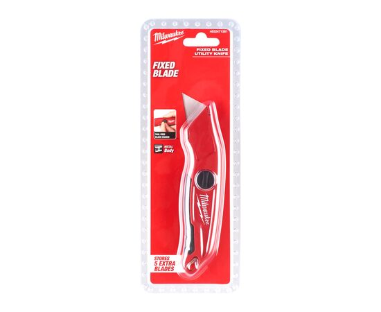 Нож с фиксированным лезвием Milwaukee FIXED BLADE KNIFE - 4932471361, фото , изображение 2
