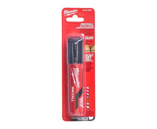 Маркер для стройплощадки Milwaukee INKZALL™ black chisel tip marker XL - 4932471558, фото , изображение 4