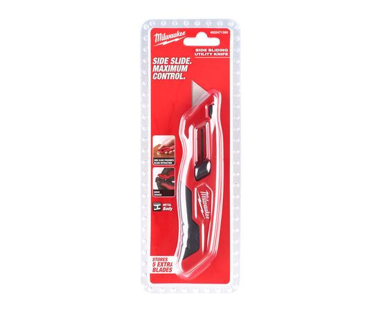 Выдвижной многофункциональный нож Milwaukee SLIDING UTILITY KNIFE - 4932471359, фото , изображение 2