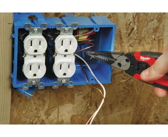 Многофункциональные плоскогубцы кусачки для зачистки проводов Milwaukee 6 IN 1 190MM - 48229069, фото , изображение 10