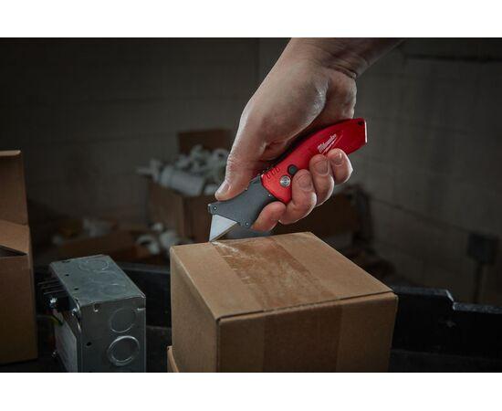 Компактный складной многофункциональный нож Milwaukee FASTBACK™ COMPACT FLIP UTILITY KNIFE - 48221906, фото , изображение 2