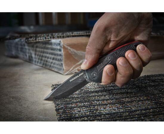 Складной нож с гладким лезвием Milwaukee HARDLINE™ FOLDING KNIFE - 48221994, фото , изображение 3