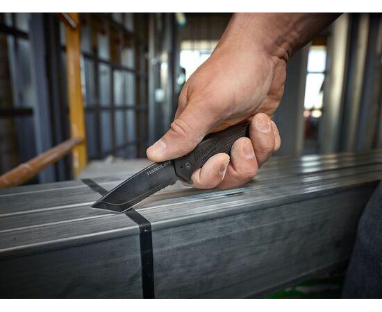 Складной нож с зазубренным лезвием Milwaukee HARDLINE™ FOLDING KNIFE - 48221998, фото , изображение 4