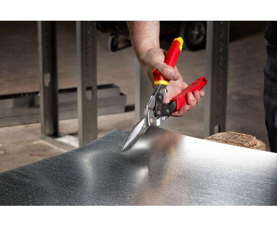 Длинные ножницы по металлу Milwaukee METAL SNIPS STRAIGHT EXTRA LONG прямой рез - 48224537, фото , изображение 2