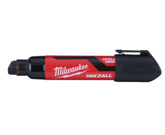 Маркер для стройплощадки Milwaukee INKZALL™ black chisel tip marker XL - 4932471559, фото , изображение 3