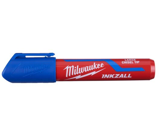 Маркер для стройплощадки Milwaukee INKZALL™ blue chisel tip marker L - 4932471557, фото