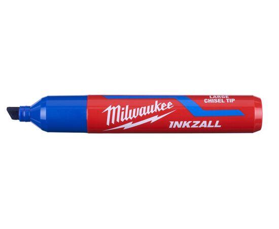 Маркер для стройплощадки Milwaukee INKZALL™ blue chisel tip marker L - 4932471557, фото , изображение 2