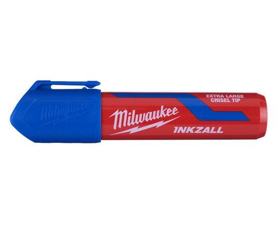 Маркер для стройплощадки Milwaukee INKZALL™ blue chisel tip marker XL - 4932471561, фото