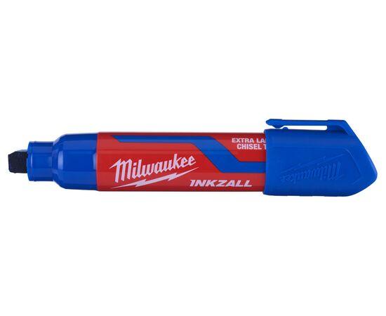 Маркер для стройплощадки Milwaukee INKZALL™ blue chisel tip marker XL - 4932471561, фото , изображение 3