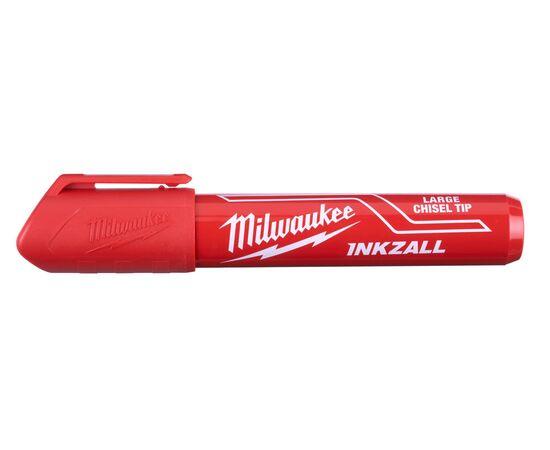 Маркер для стройплощадки Milwaukee INKZALL™ red chisel tip marker L - 4932471556, фото