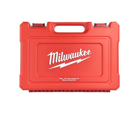 Набор головок с трещоткой Milwaukee METRIC ½″ RATCHET w SOCKET SET 28 PC - 4932471864, фото , изображение 3